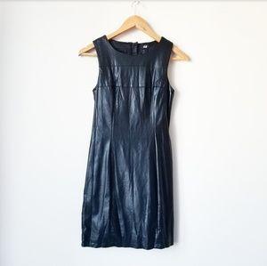 H&M Faux Leather Sleeveless Sheath Dress